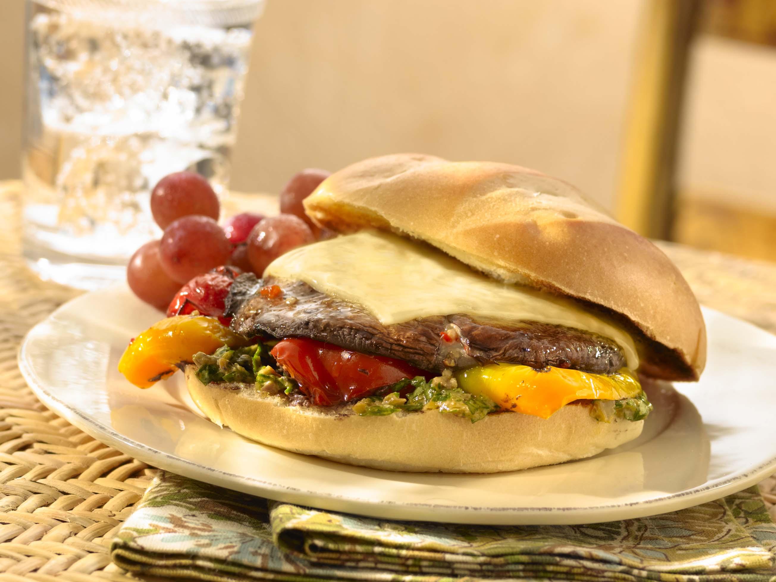 Portobello Mushroom Sandwiches Recipe Sargento Foods Incorporated